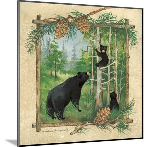 Black Bears II-Anita Phillips-Mounted Art Print