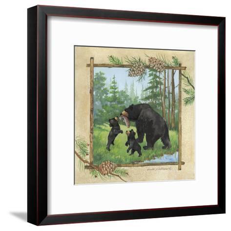 Black Bears III-Anita Phillips-Framed Art Print