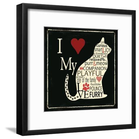 I Love My Cat-Jo Moulton-Framed Art Print