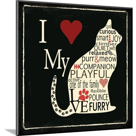 I Love My Cat-Jo Moulton-Mounted Art Print