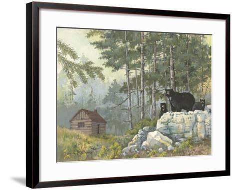 Bears Cabin-Anita Phillips-Framed Art Print