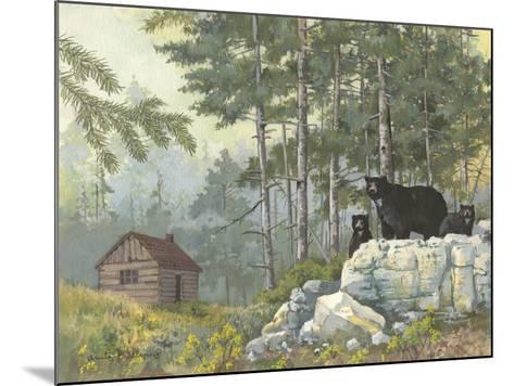 Bears Cabin-Anita Phillips-Mounted Art Print