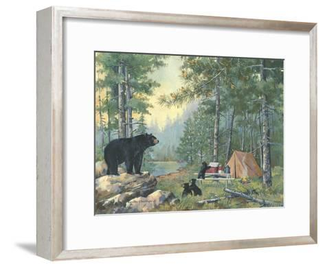 Bears Campsite-Anita Phillips-Framed Art Print