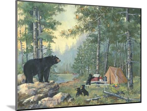 Bears Campsite-Anita Phillips-Mounted Art Print