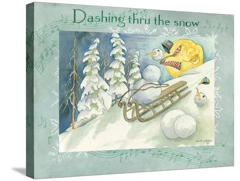 Dashing Through the Snow-Anita Phillips-Stretched Canvas Print