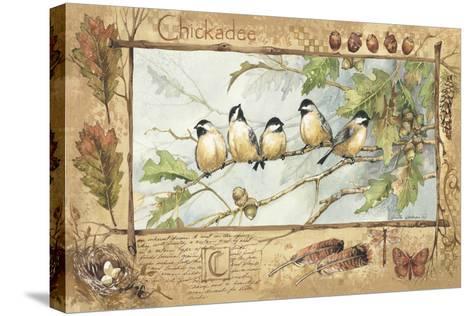 Chickadee-Anita Phillips-Stretched Canvas Print