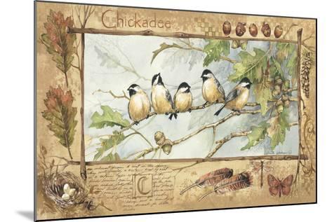 Chickadee-Anita Phillips-Mounted Art Print