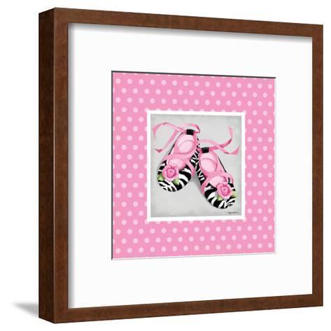 Wild Child Ballet Slipper-Kathy Middlebrook-Framed Art Print
