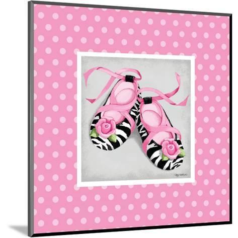 Wild Child Ballet Slipper-Kathy Middlebrook-Mounted Art Print