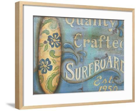 Surfboard-Kim Lewis-Framed Art Print