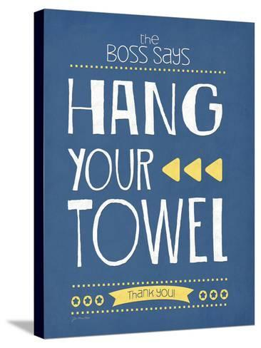 Hang Your Towel-Jo Moulton-Stretched Canvas Print