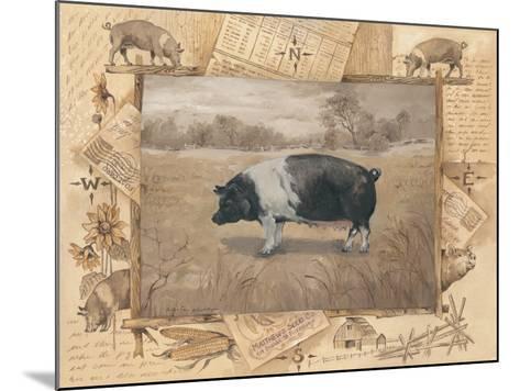 Pig-Anita Phillips-Mounted Art Print