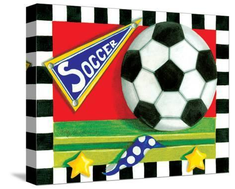 Soccer-Kathy Middlebrook-Stretched Canvas Print