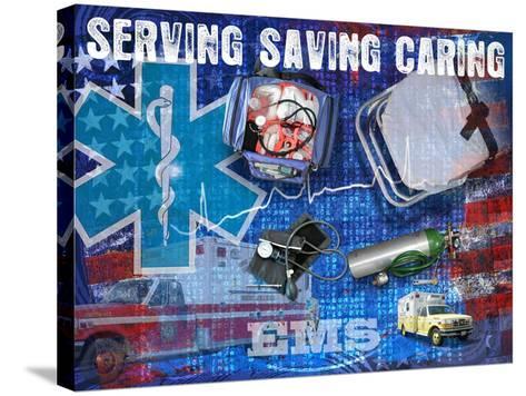Serving Saving Caring-Jim Baldwin-Stretched Canvas Print