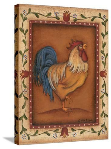 Gold Rooster-Kim Lewis-Stretched Canvas Print