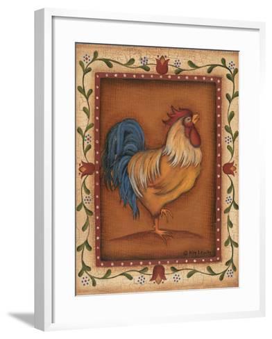 Gold Rooster-Kim Lewis-Framed Art Print