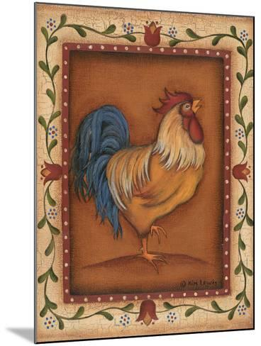 Gold Rooster-Kim Lewis-Mounted Art Print