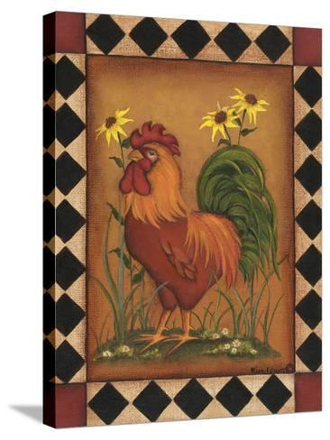 Red Rooster I-Kim Lewis-Stretched Canvas Print