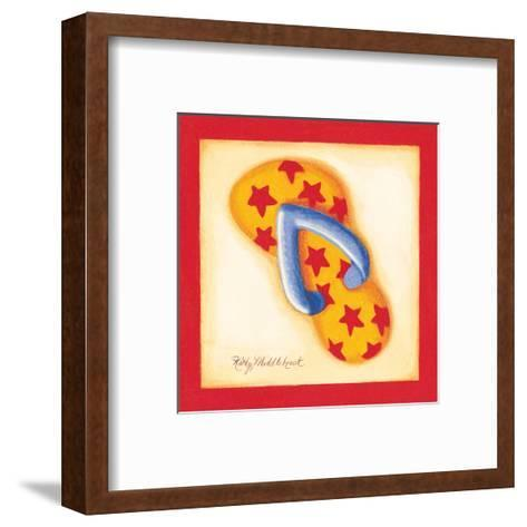 Red Flip Flop I-Kathy Middlebrook-Framed Art Print
