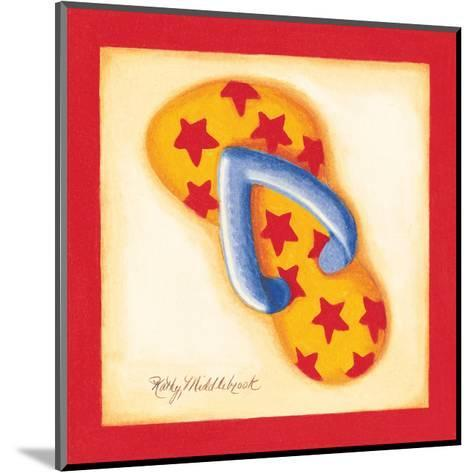 Red Flip Flop I-Kathy Middlebrook-Mounted Art Print