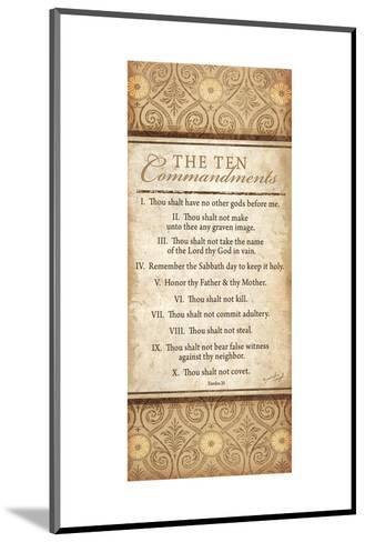 The Ten Commandments-Jennifer Pugh-Mounted Art Print