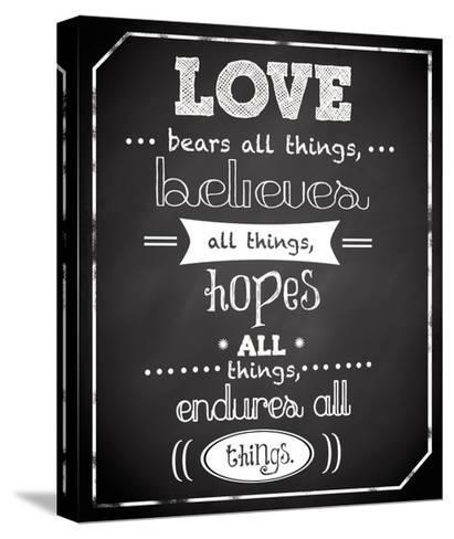 Love Endures-Anna Quach-Stretched Canvas Print