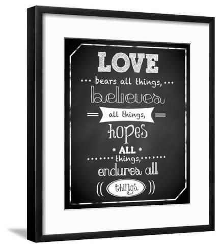 Love Endures-Anna Quach-Framed Art Print