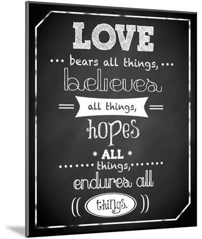 Love Endures-Anna Quach-Mounted Art Print