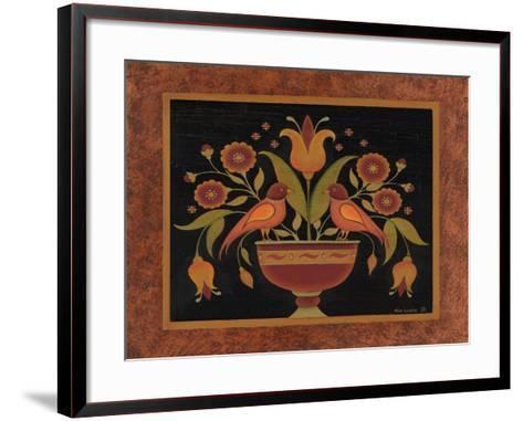 Floral with Birds-Kim Lewis-Framed Art Print