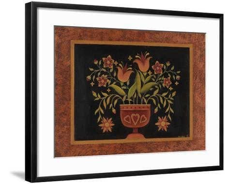 Floral with Hearts-Kim Lewis-Framed Art Print