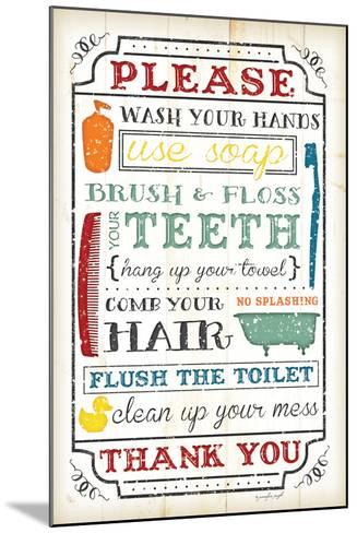 Bathroom Rules-Jennifer Pugh-Mounted Art Print