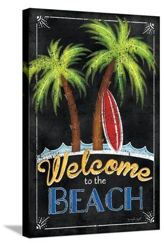 Welcome to the Beach-Jennifer Pugh-Stretched Canvas Print