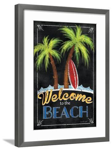 Welcome to the Beach-Jennifer Pugh-Framed Art Print