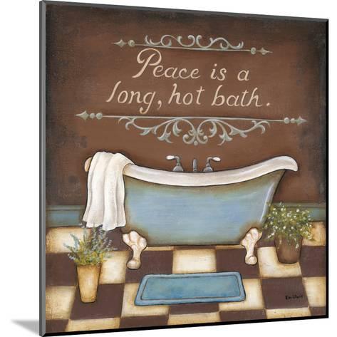 Long Hot Bath-Kim Lewis-Mounted Art Print