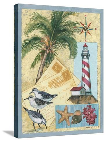Lighthouse Letters-Anita Phillips-Stretched Canvas Print