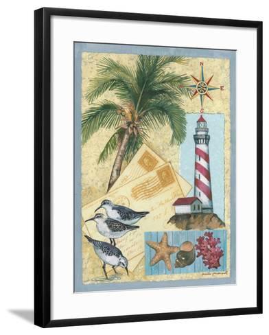 Lighthouse Letters-Anita Phillips-Framed Art Print
