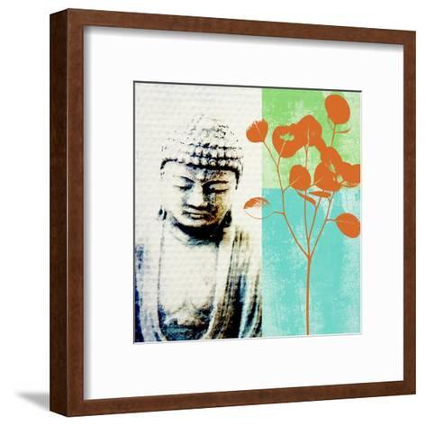Buddha II-Linda Woods-Framed Art Print