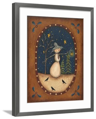 Snowman Lantern-Kim Lewis-Framed Art Print