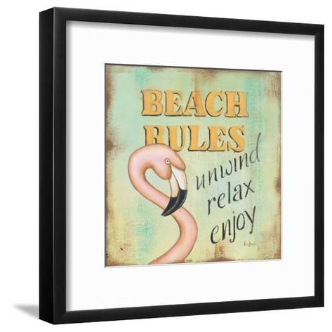 Beach Rules-Kim Lewis-Framed Art Print