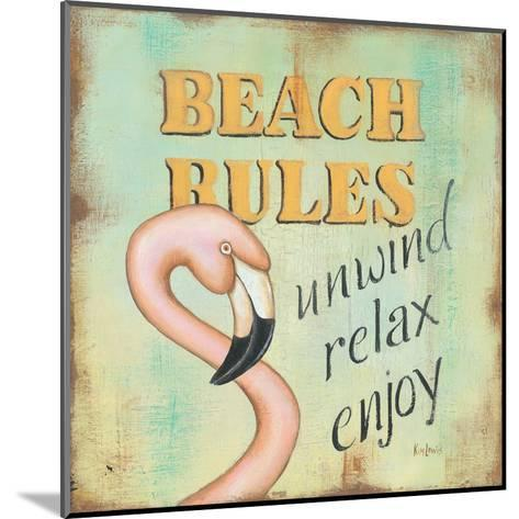Beach Rules-Kim Lewis-Mounted Art Print
