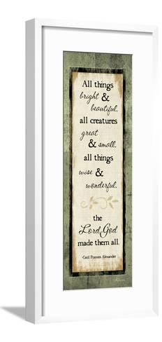 All Things Bright and Beautiful-Jennifer Pugh-Framed Art Print