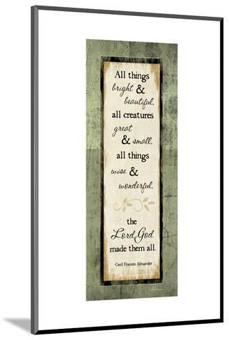 All Things Bright and Beautiful-Jennifer Pugh-Mounted Art Print