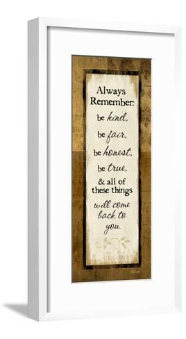 Always Remember-Jennifer Pugh-Framed Art Print
