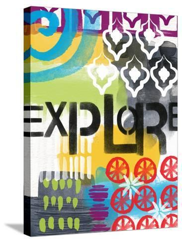Abstract Explore-Linda Woods-Stretched Canvas Print