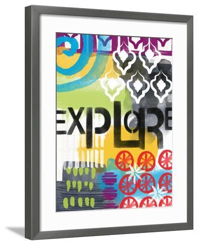 Abstract Explore-Linda Woods-Framed Art Print