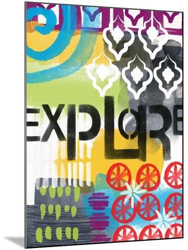 Abstract Explore-Linda Woods-Mounted Art Print