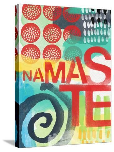 Abstract Namaste-Linda Woods-Stretched Canvas Print