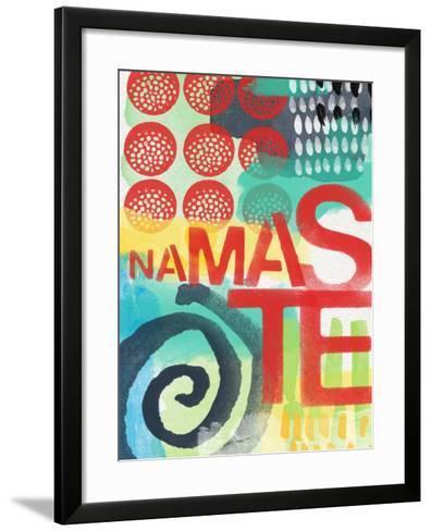 Abstract Namaste-Linda Woods-Framed Art Print