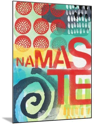 Abstract Namaste-Linda Woods-Mounted Art Print