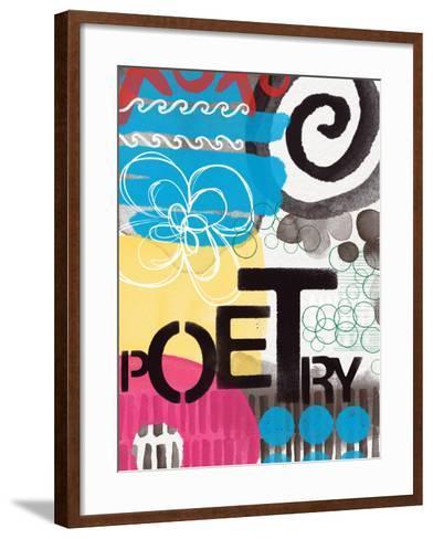 Abstract Poetry-Linda Woods-Framed Art Print
